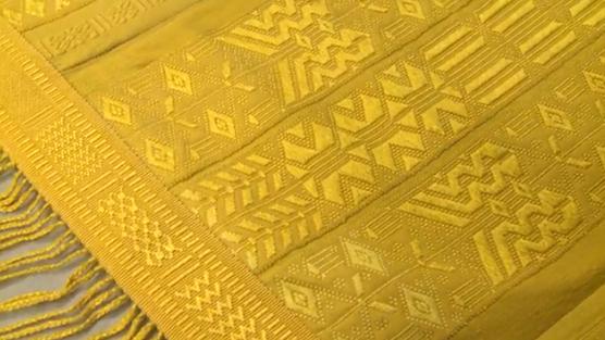 Les fabuleux motifs du tapis de soie d`araignée